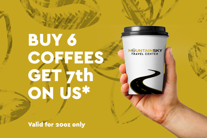 free coffee at mountain sky travel center cahuilla casino
