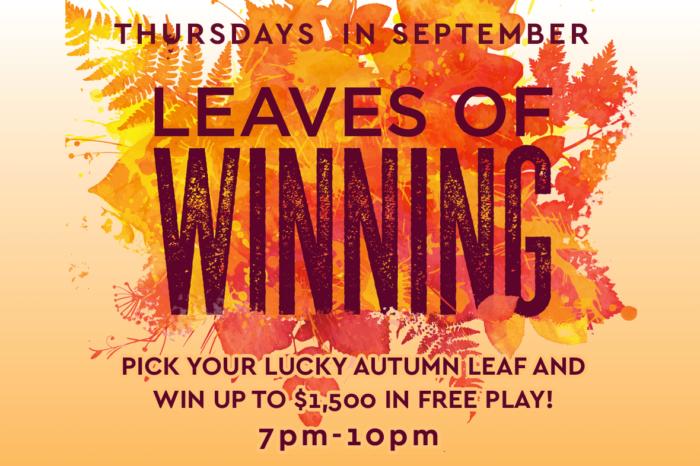 leaves of winning at cahuilla casino hotel